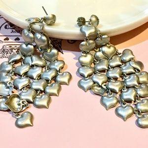 Juicy Couture vintage earrings mesh of hearts